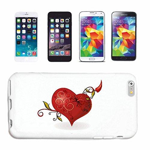 """cas de téléphone iPhone 6S """"BIG COEUR AVEC DECORATION POUR LES AMOUREUX PÈRE MÈRE MOBILISATION ANNIVERSAIRE DE MARIAGE"""" Hard Case Cover Téléphone Covers Smart Cover pour Apple iPhone en blanc"""