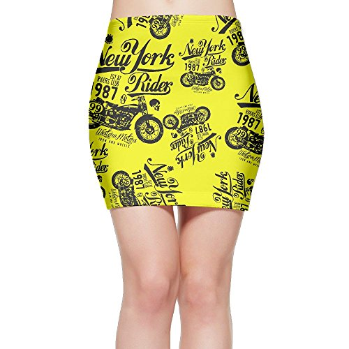 Motorcycle Women Package Hip High Waist Mini Short Skirts by SKIRTS WWE