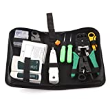 Powstro Network Tester Tool Kit, RJ11 RJ45 Cable Tester 9in1 Professional Repair Tool with Storage Box