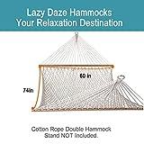 Lazy Daze Hammocks Cotton Rope Double Hammock with