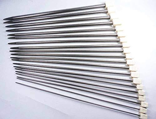 Bryspun Circular Needles - Vintage Knitting Needles with New Design 2019, 22pcs/Set 10set/lot 25cm 35cm Knitting Needle - Knitting Needles Size, Interchangeable Knitting Needles Set, Chiaogoo Knitting Needles