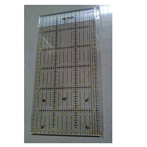 Regla de acrílico claro para collage de Patchwork herramienta costura Artesanía -30 x 15 cm: Amazon.es: Hogar