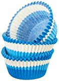 Regency Wraps Greaseproof Baking Cups, Blue Swirl, 40 count, Standard.