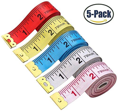 - BUSHIBU 5 Piece Body Measuring Ruler Sewing Tailor Tape Measure Soft Flexible 79'' /200 cm Colorful