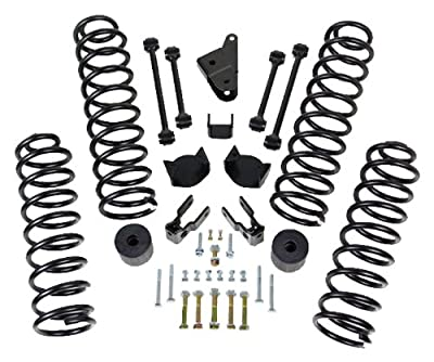 "ReadyLift 69-6400 4"" Front and 3"" Rear SST Coil Spring Lift Kit for Jeep Wrangler JK 2007-2011"