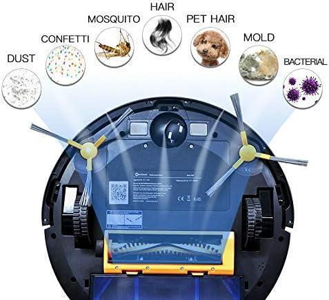 Aspirateur Robot Aspirateur Robot, Vadrouille Sèche Et Humide 3 En 1, Navigation Par Carte Wifi, Mémoire Intelligente, Anti Collision, Robot Aspirateur
