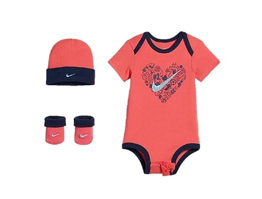 1b0b4dc1732a6 Nike - Ensemble - Bébé (Fille) 0 à 24 Mois Rose Corail 0-6 Mois ...
