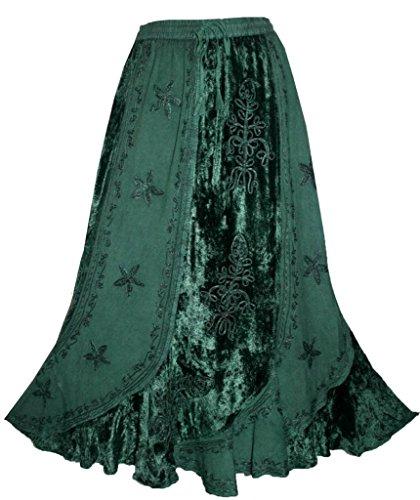 Agan Traders 552 Sk Dancing Gypsy Medieval Renaissance Vintage Skirt (L/XL, H Green) by Agan Traders