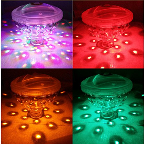 Gold Happy AAA Battery Powered LED Underwater Fountain Light Bathtub Light Disco Spa Swimming Pool Float lamp Pond Fish Tank Aquarium Light by Gold Happy (Image #5)