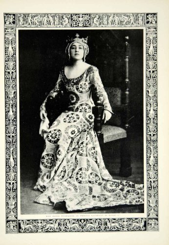 [1912 Print Portrait Madge Titheradge Princess Katherine Henry V Costume Actress - Original Halftone] (Henry V Play Costumes)