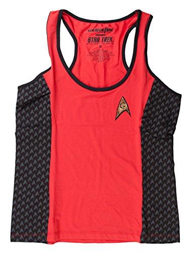 Star Trek Starfleet Yoga Red Tank Top Shirt | L