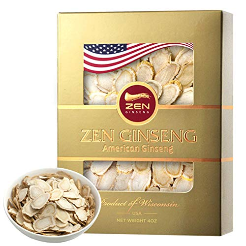 High Quality Hand Picked American Wisconsin Ginseng Slice (4oz/Box)