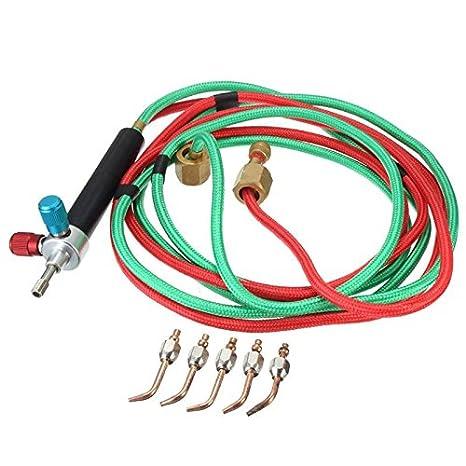 Drillpro de gas, la Antorcha de soldadura TIG Juego pequeño de combustible, tubos de soldadura Mini antorchas de soldadura a gas, 5 unidades: Amazon.es: ...