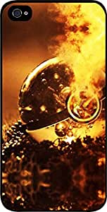 The Hunger Games-Pokerball on Fire- Apple iPhone 5 - 5s universal (NOT 5C) - Hard black plastic snap on case.