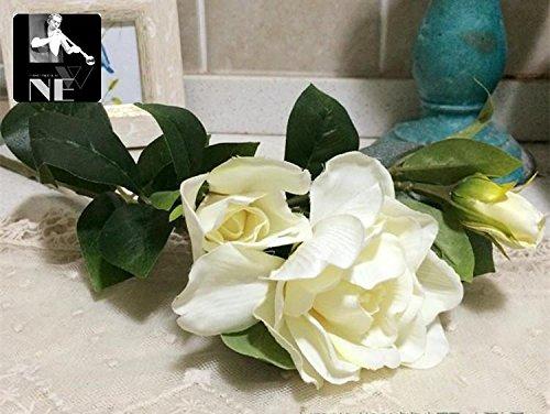 JIALELE-Artificial-FlowersFake-FlowerSilk-Flower-The-Living-Room-Decoration-Decoration-Home-Furnishing-Gardenia-FlowersWhite