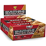 BSN Protein Crisp Bar by Syntha-6, Low Sugar Meal Replacement Whey Protein Bar, Peanut Butter Crunch, 12 Count (Packaging may vary)