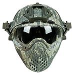 DECHO-C Casque Rapide d'Airsoft avec Le Masque de Masque pour l'armée Militaire WarGame Moto Faisant du vélo la Chasse 5