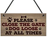Please Close The Gate Novelty Hanging Plaque Gift Security Garden Fence Sign Family Pet Present