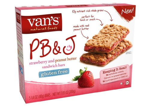 Van's Gluten Free Snack Bars, PB&J Strawberry, 7.05 Ounce (Pack of 2)
