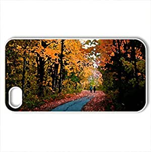 Autumn Beauty - Case Cover for iPhone 4 and 4s (Forests Series, Watercolor style, White)