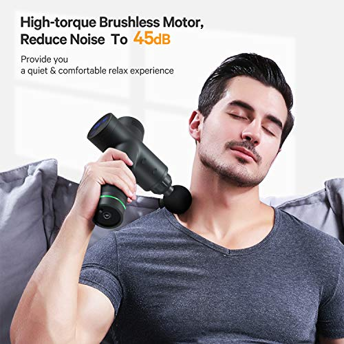 Muslce Massage Gun for Professional Leadtry G8,Handheld Deep Tissue Percussion Muscle Massager with 20 Speeds and 6 Types of Massage Heads for Pain Relief,Super Quiet Brushless Motor,HSA Approved