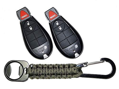 JalopyTrade Pair New Remote for Dodge RAM 1500 2500 3500 Pickup Remote Start KEYLESS Remote Key FOB FOBIK + Free Lanyard (2-DO-J-GR-PC)