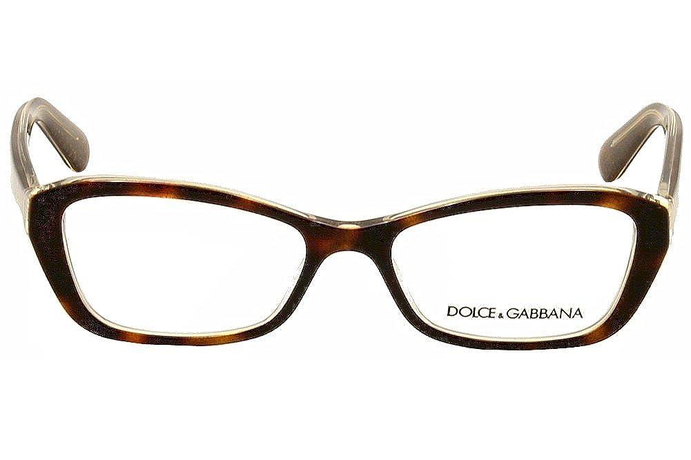 6272502e37f DOLCE   GABBANA Eyeglasses DG 3168 2738 Havana Glitter Gold 51MM   Amazon.co.uk  Clothing