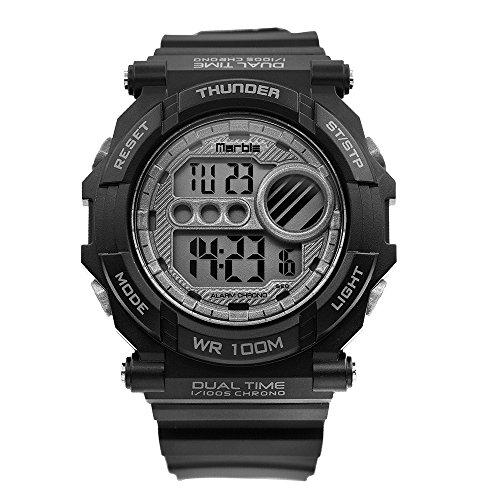Women's Waterproof Outdoor Sports Stopwatch Multi Function Digital Fashion LED Backlight Watch