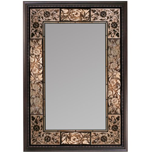 Head West French Tile Mirror - glass wall mirrors - Mirror wall art