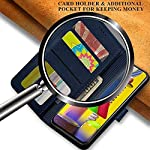 WOOZY® Genuine Leather Finish REDMI Note 10S Flip Back Cover | Inbuilt Pockets & Stand | Wallet Style | Designer Button…