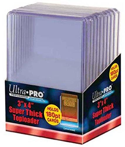 Ultra Pro 2 180pt Top Loader Packs - 10 Toploaders Per Pack (20 Total) - Thick Baseball, Basketball, Hockey, Football Cards (Ie Memorabilia)