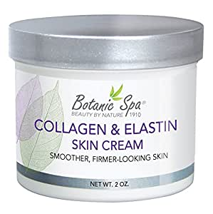 Botanic Spa Collagen and Elastin Skin Cream, 2 Ounce Jar (Pack of 4)