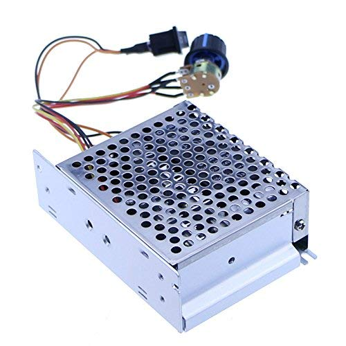 12v 24v 36v 48v 40A PWM DC Motor Speed Controller Forward Reverse Controller with Motor Down Switch Metal Shell Case Icmodule