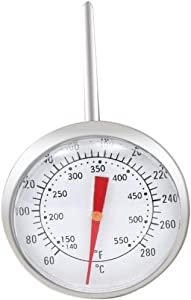 GasSaf Accurate Grill Thermometer Replacement for Weber 9815 62538, Weber Genesis 1000-5500, Genesis Silver B C, Genesis Gold B C Grills, Deep Fryer Thermometer with Clip and 5 Inch Probe