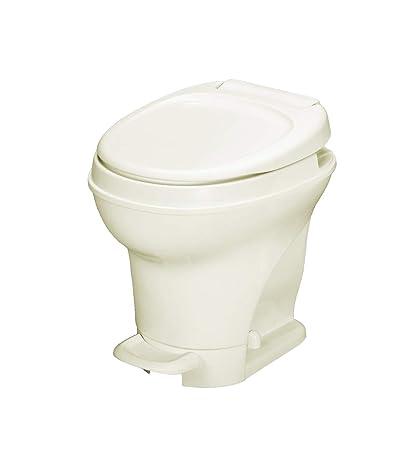 Aqua-Magic V RV Toilet Pedal Flush /High Profile / Parchment