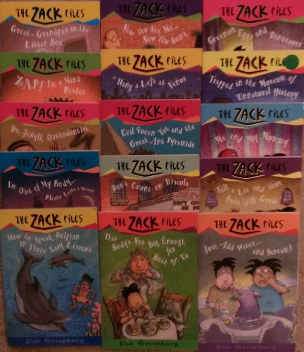 The Zack Files Set (15 book set) (Great-Grandpa's in the Litter Box , Zap! I'm a Mind Reader, Dr Jekyll Othodontist, I'm Out of My Body.. Please Leave a Message, How to Speak Dolphin in Three Easy Lessons, Now You See Me Now You Don't, MORE!) -