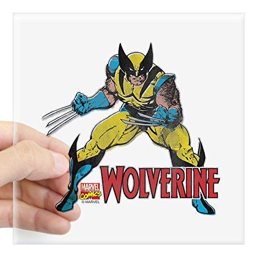 CafePress Vintage Wolverine Square Sticker 3 X 3 Square Bumper Sticker Car Decal, 3