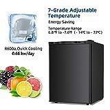 Kismile 3.0 Cu.ft Upright Freezer with Compact