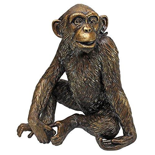 Design Toscano Chatty Chimpanzee Cast Bronze Garden Statue