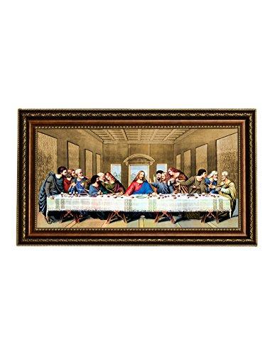 Eliteart- Jesus Christ The Last Supper by Leonardo da Vinci Giclee Art Canvas Prints Framed Size:34 3/4''x21'' by Elite Art