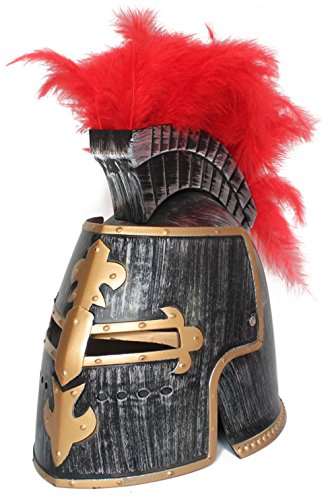 OliaDesign Middle Ages Crusader Helmet, Gold, One Size (Middle Ages Costumes)