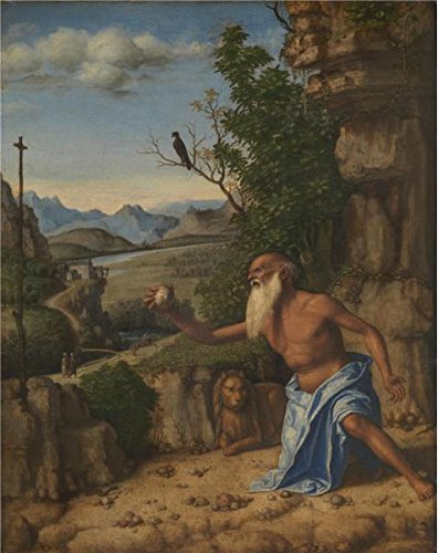 'Giovanni Battista Cima Da Conegliano-Saint Jerome In A Landscape,1500-10' Oil Painting, 12x15 Inch / 30x38 Cm ,printed On High Quality Polyster Canvas ,this Cheap But High Quality Art Decorative Art Decorative Prints On Canvas Is Perfectly Suitalbe For Home Office Decor And Home Artwork And Gifts