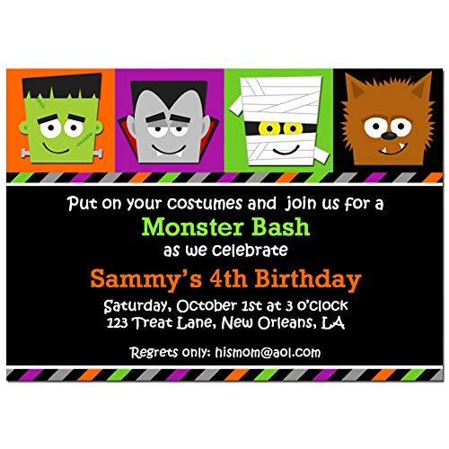 Halloween Party Invitation - Halloween Invitation - Monster Mash Bash Collection