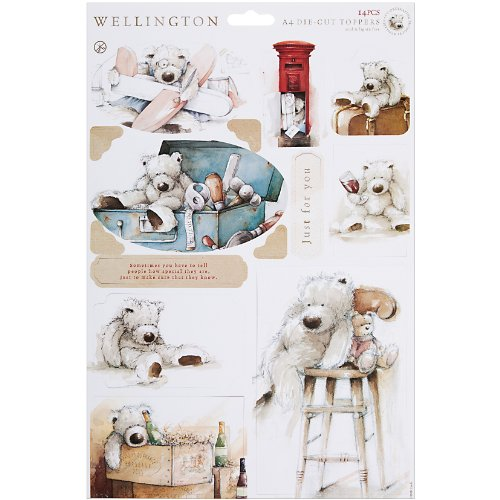 DOCrafts Wellington Die-Cut Toppers A4 Sheet for Paper Crafting, Just for You