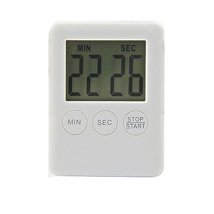PAOLIAN Timer Digital Reminder Alarm LCD Reloj de cocina Cocina Large Cuenta atrás (Blanco)