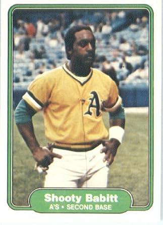 Amazoncom 1982 Fleer Baseball Card 86 Shooty Babitt New