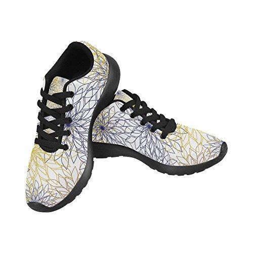 Interestprint Kvinna Löparskor Jogging Lätta Sport Gå Athletic Sneaker Blom- Lämnar Flera 8