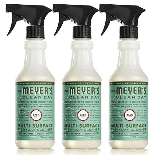 Natural Kitchen Cleaner - Mrs. Meyer's Clean Day Multi-Surface Everyday Cleaner, Basil, 16 fl oz, 3 ct