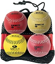 Markwort 12-Inch Softball Weighted Set (9, 10, 11 and 12-Ounce)