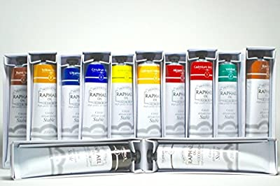 Raphael Oil Color Set - Bundle of 12 tubes 200 ml